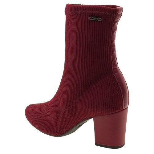 bota meia feminina dakota vermelho g0013