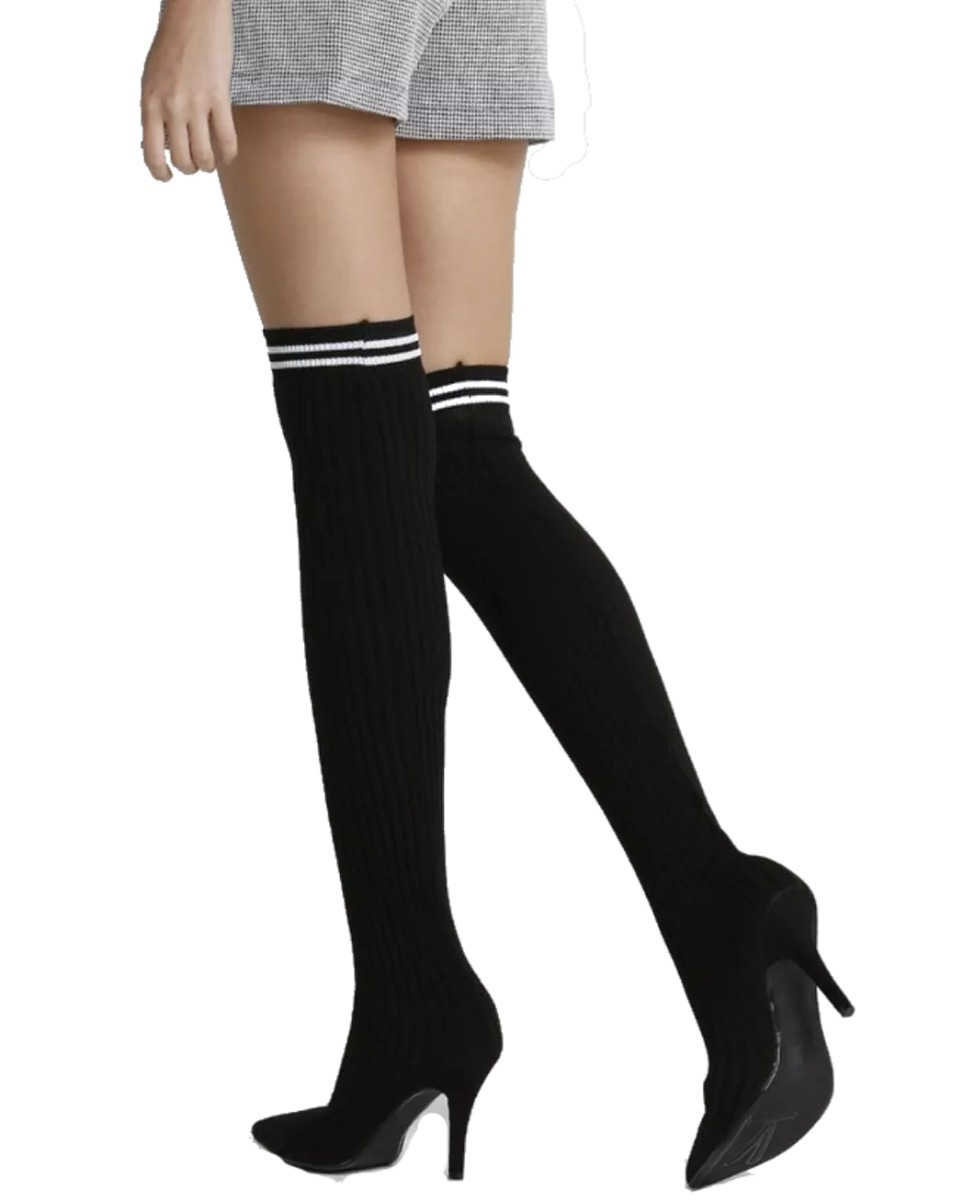 711b4bbf8 bota meia feminina over acima do joelho sock boot vizzano. Carregando zoom.