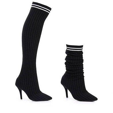 e1f204830 Bota Meia Feminina Over Acima Do Joelho Sock Boot Vizzano - R  219 ...
