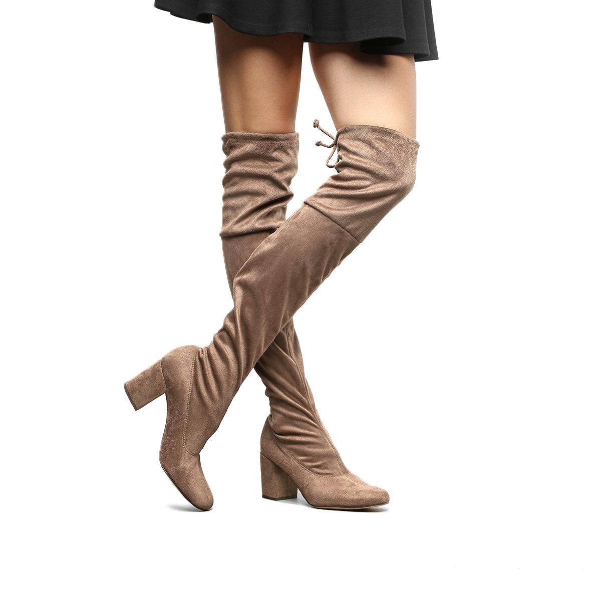 a6c70229c bota meia over the knee shoestock salto grosso feminina. Carregando zoom.