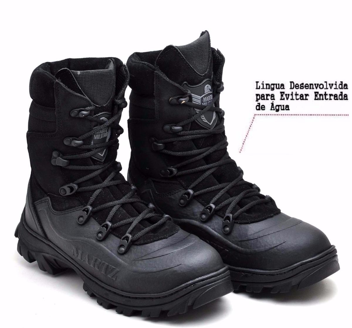 116958b17 bota militar coturno tático 100% impermeavel bombeiro samu. Carregando zoom.