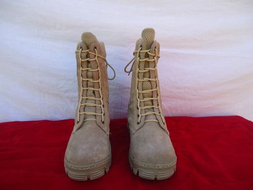 bota militar gamuza color beige