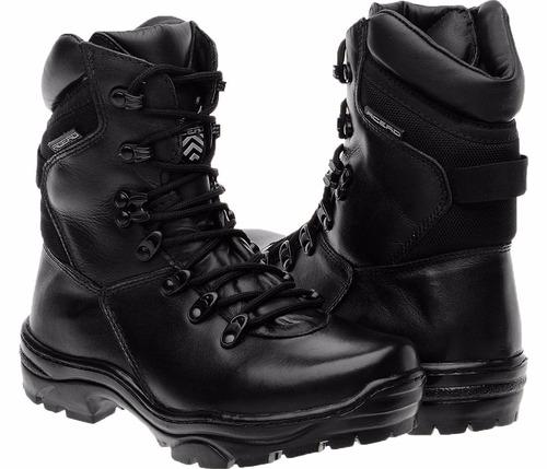 bota militar tatico coturno masculino e feminino couro acero