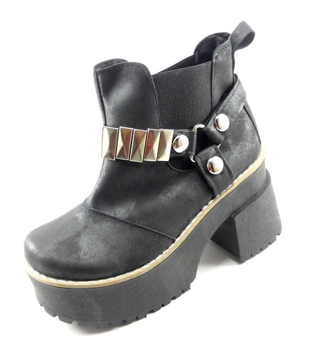 bota moda plataforma dama herrajes elastizada
