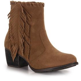 71b24f95ca Bota Caramelo De Franjas Couro Taquilla Feminino Botas - Sapatos ...