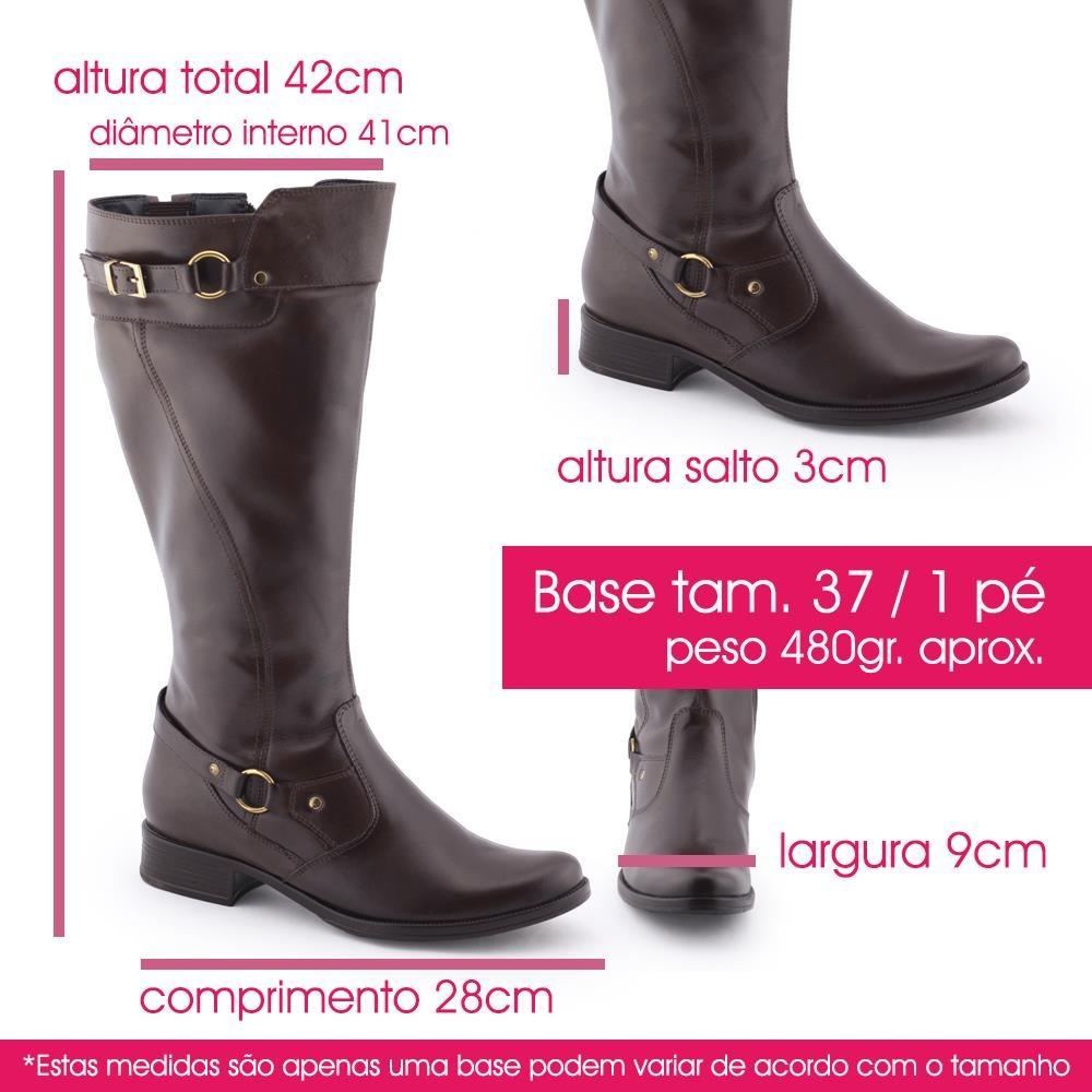048c3784d Bota Montaria Couro Larga Panturrilha 630251 - Anna Rios - R  289