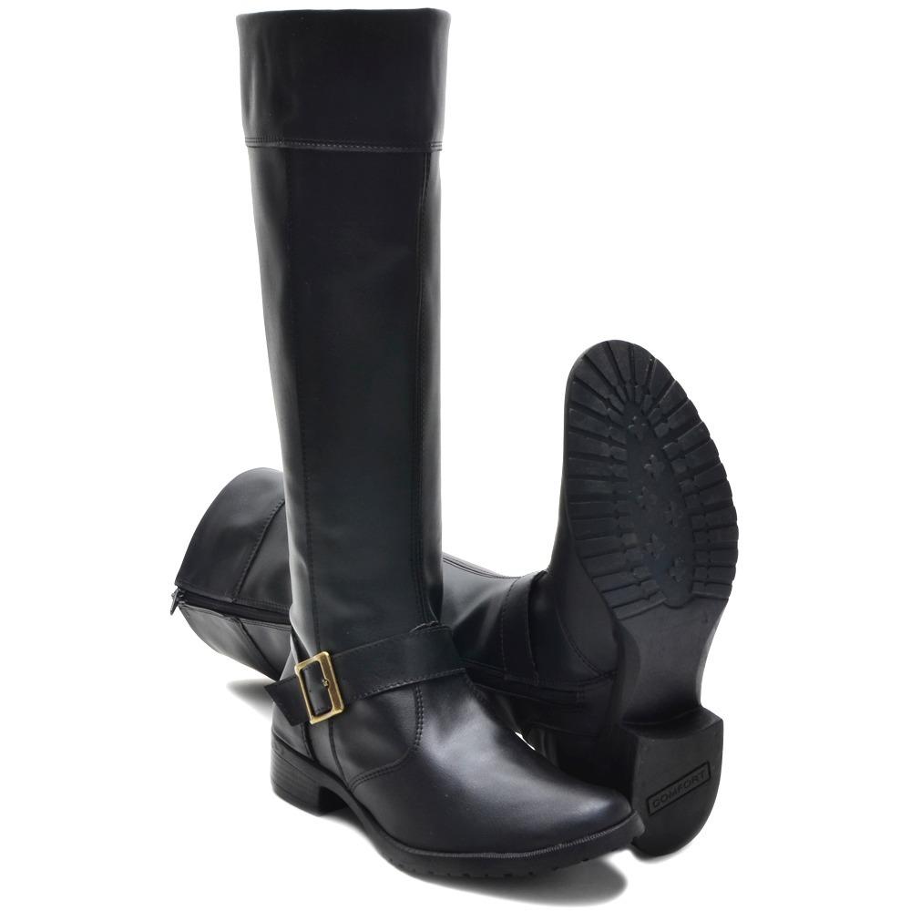 62bdf927a bota montaria feminina cano longo ziper fivela promoção. Carregando zoom.