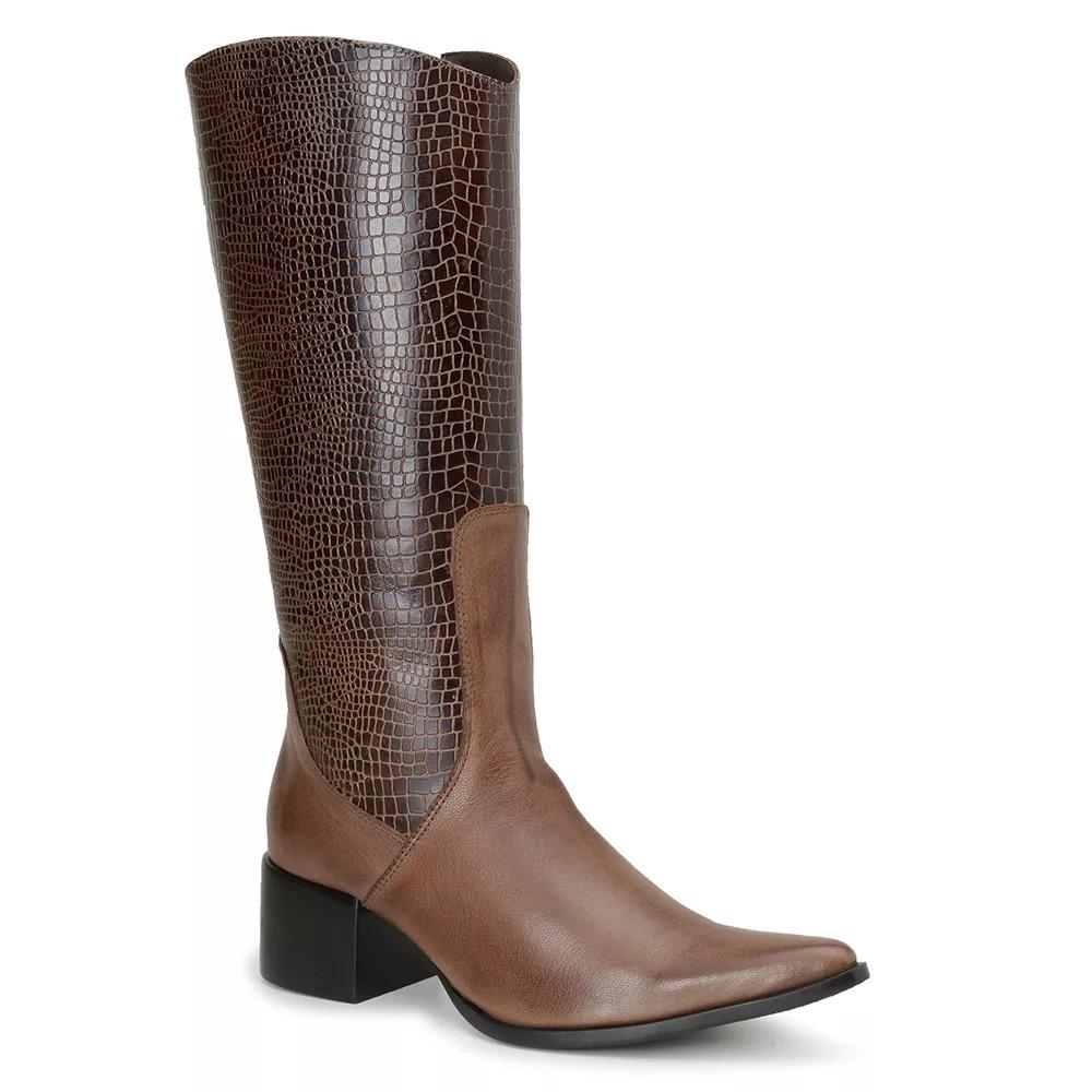 ebf096735e39d bota montaria feminina couro café tmoro cavalaria® 5112. Carregando zoom.