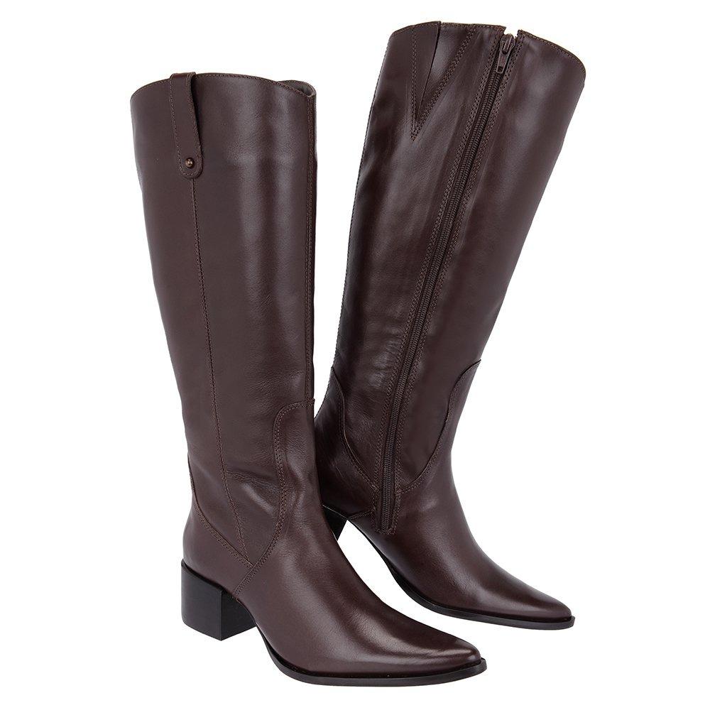 4dcfb07913e7e bota montaria feminina couro legítimo café - cavalaria® 5... Carregando  zoom.