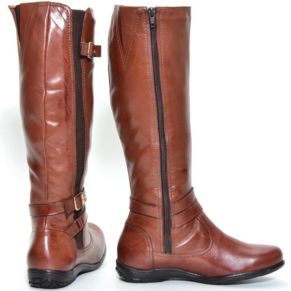 b27f40a86e bota montaria feminina rasteira 100% couro c regulagem 9304. Carregando  zoom.