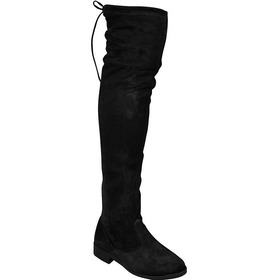 Bota Montaria Over The Knee Camurca Stretch A Cima Do Joelho
