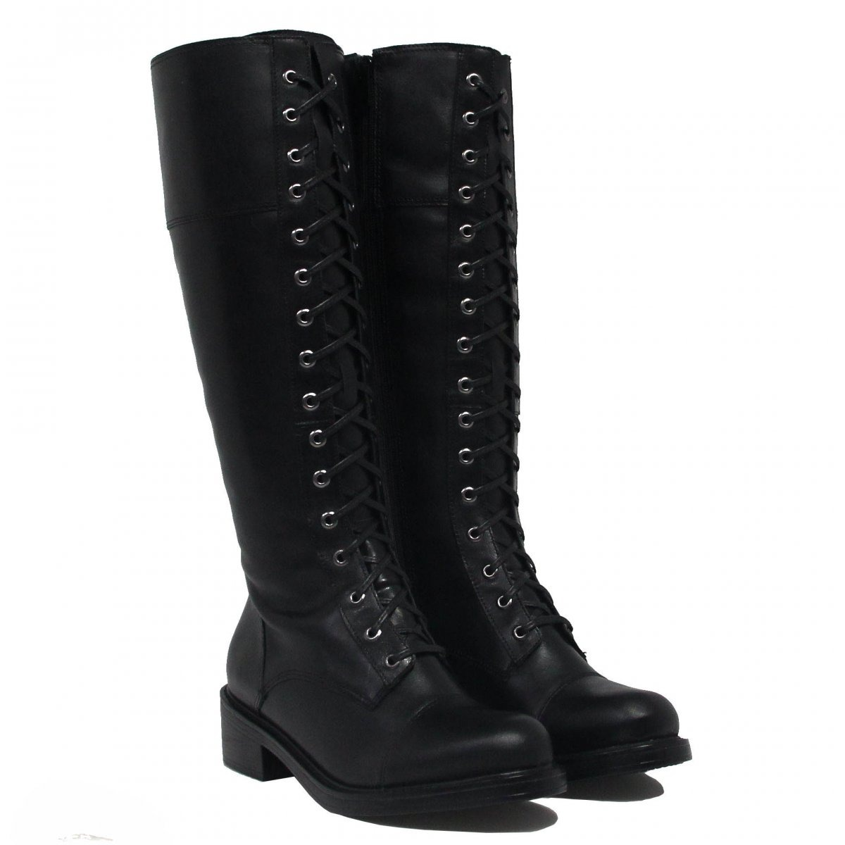 15864c749e9 Bota Montaria Zariff Shoes Coturno Ziper Couro
