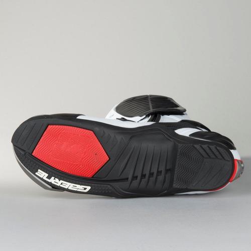 bota motociclismo gaerne gp1 racing branca oferta hoje