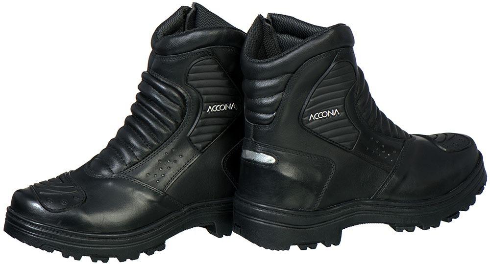 a8e2f56a886 bota motociclista accona em couro e cano médio com ziper. Carregando zoom.