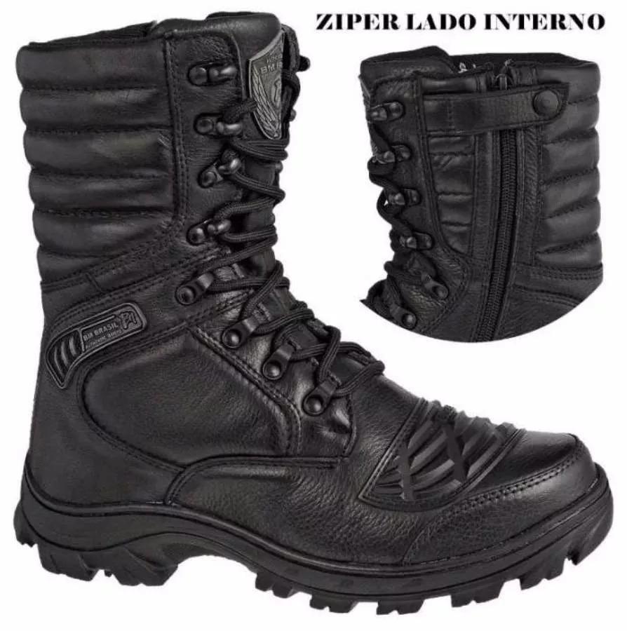 02e6f0dd49 bota motociclista bmbrasil coturno c  ziper tatico militar. Carregando zoom.