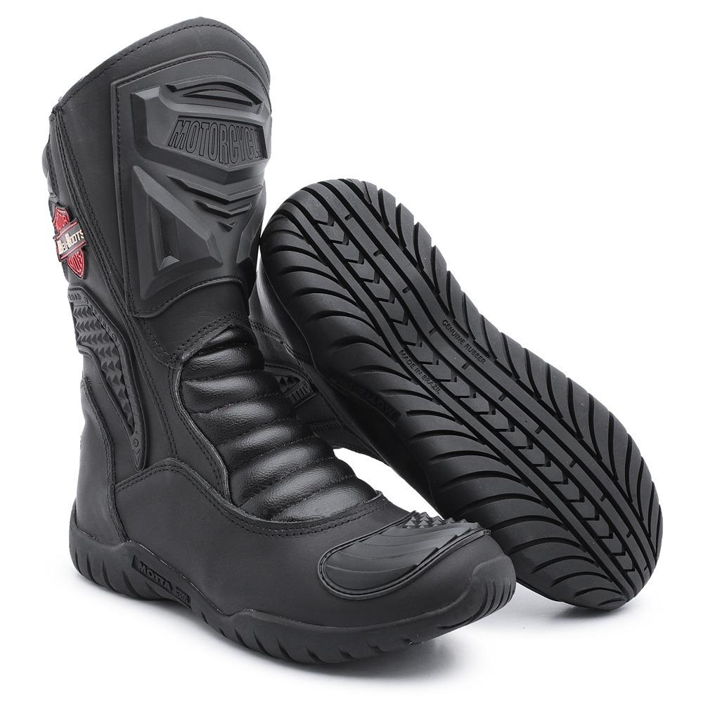 9ac8dba6a9e bota motociclista couro cano alto protetor bico solado baixo. Carregando  zoom.