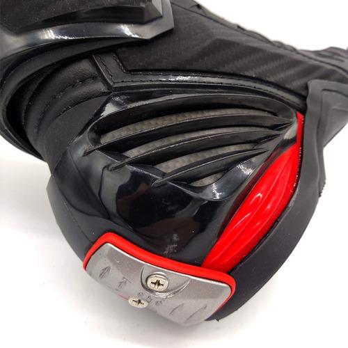 bota motociclista gaerne gp-1 racing com carbono anti-torção