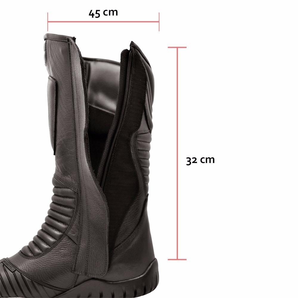 890a9f614 bota motociclista masculina cano alto ziper semi impermeavel. Carregando  zoom.