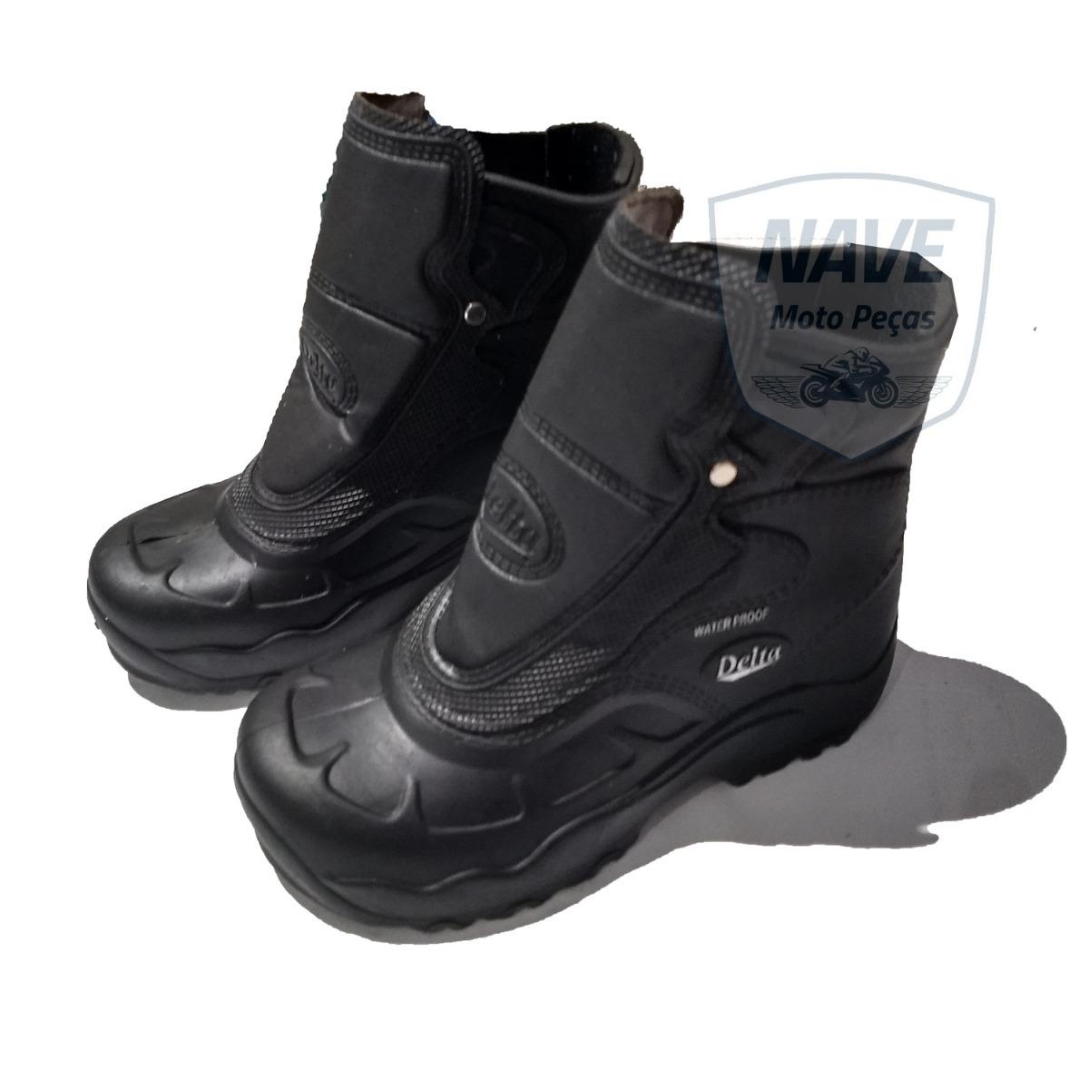 cfe3d298c82 bota motoqueiro delta em borracha 100% impermeável promoção. Carregando  zoom.