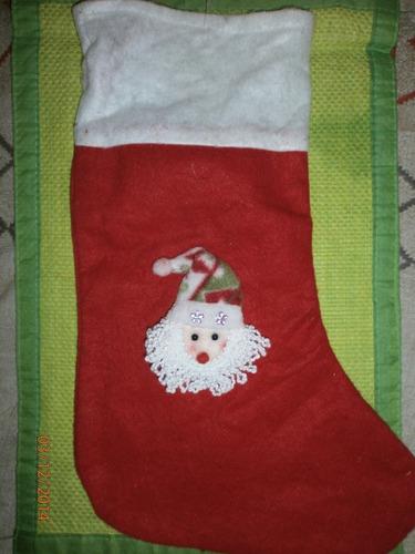 bota navideña fieltro