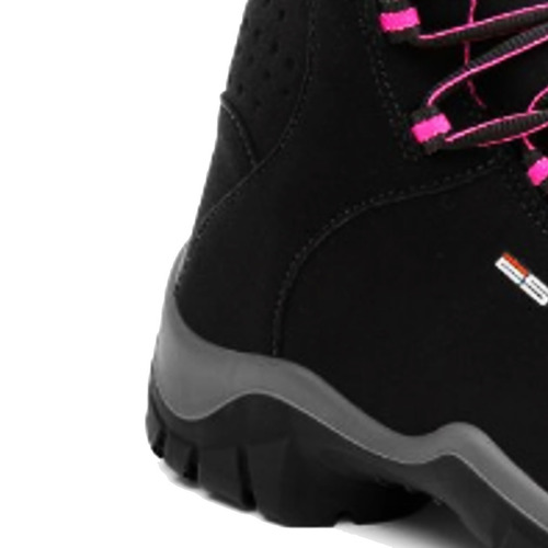 bota ocupacional bico pvc feminina micro fibra rosa estival