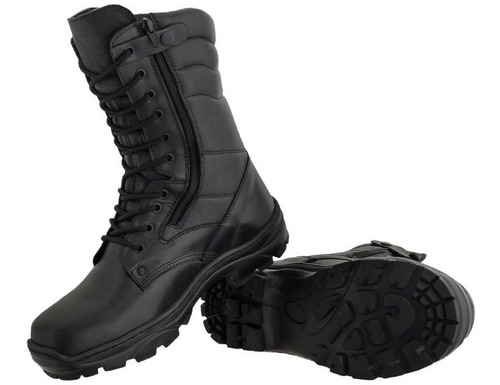 bota original azimute militar tático cano médio com zíper