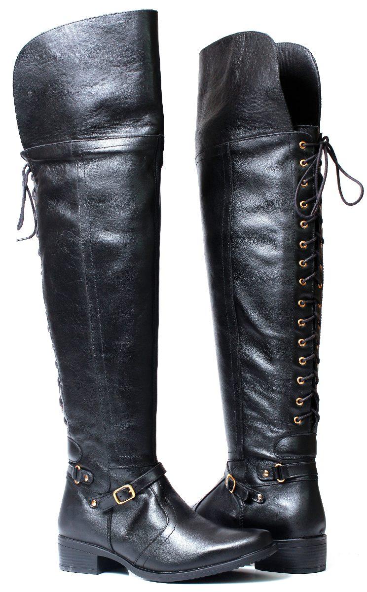7496c4722 bota over knee montaria 100% couro legítimo feminina 1208. Carregando zoom.