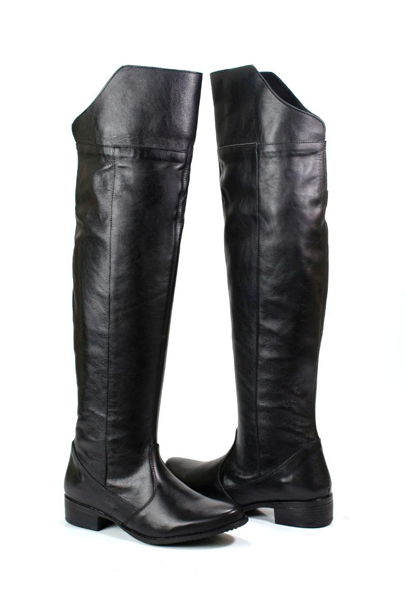 649337658 bota over knee montaria de couro legítimo feminina 1213. Carregando zoom.