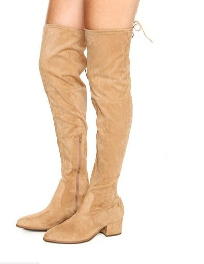 20125b59c Bota Over The Knee Dumond Camurça Bege 4112912 - R$ 299,90 em ...