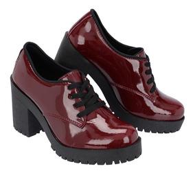 fa42fdfdc Sandalia Oxford Salto Tratorado - Sapatos Vermelho com o Melhores Preços no  Mercado Livre Brasil
