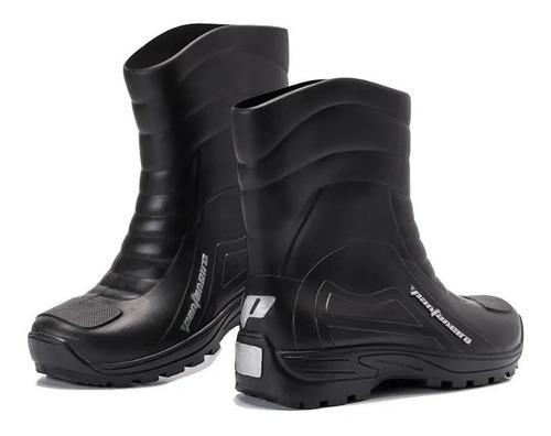 bota para chuva moto pantaneiro impermeável pvc cano médio