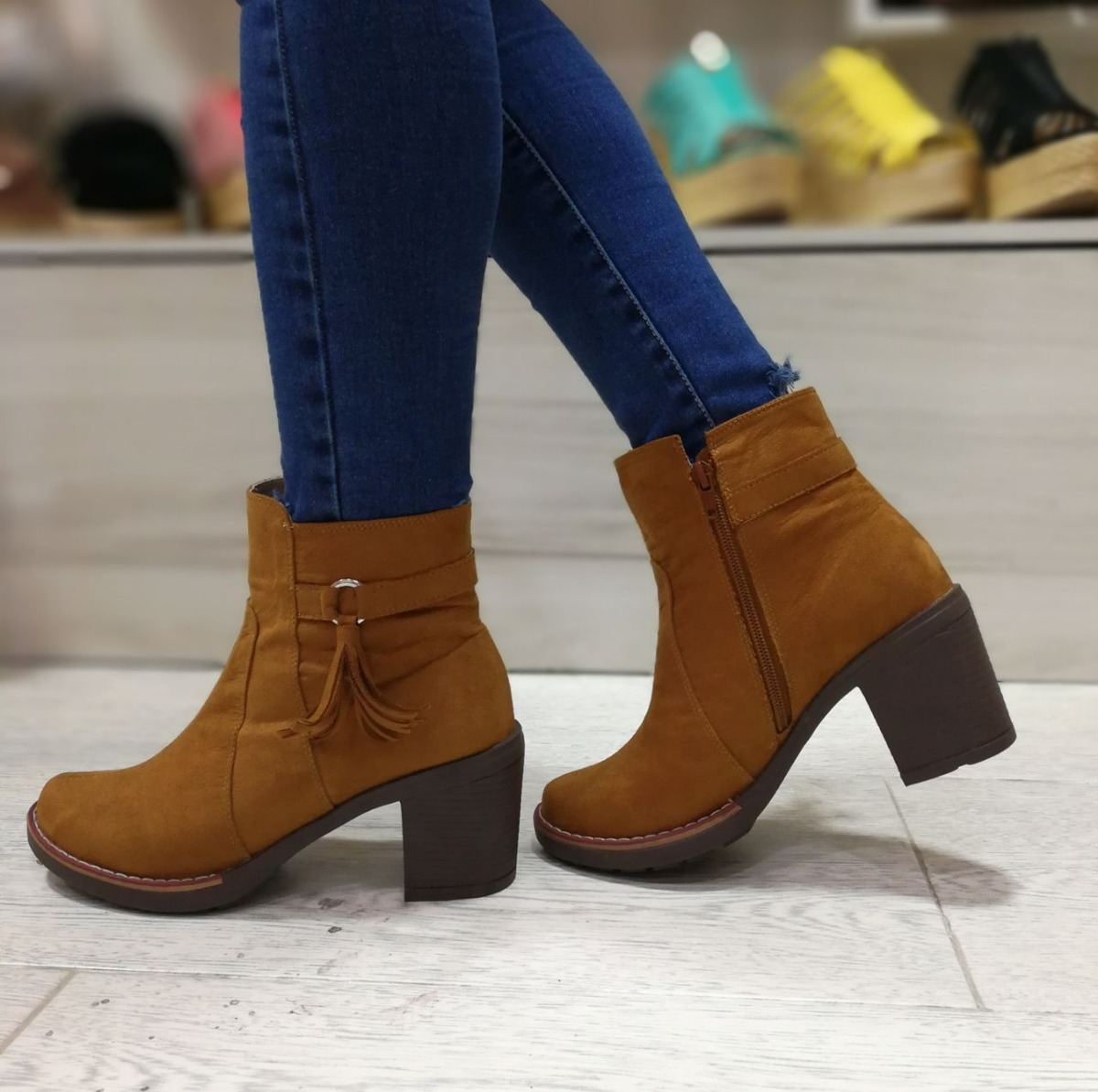 0f376710d08 bota para dama moda femenina calzado mujer botin dama tacon. Cargando zoom.