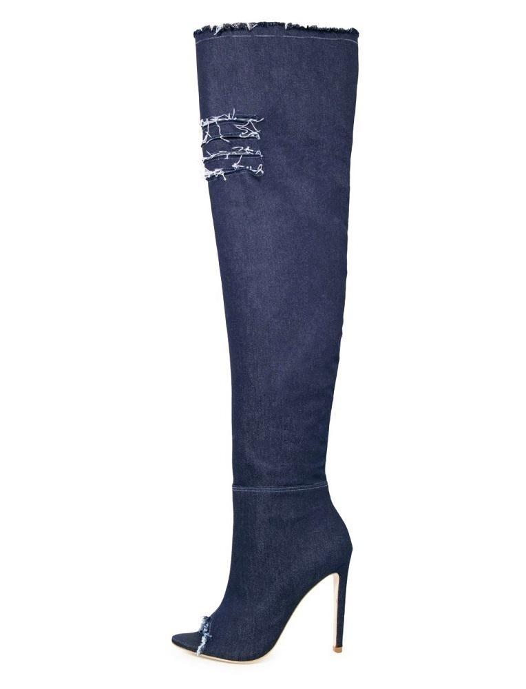 76ca0065f2 bota para dancar boot jeans over jeans stretch open boot 007. Carregando  zoom.