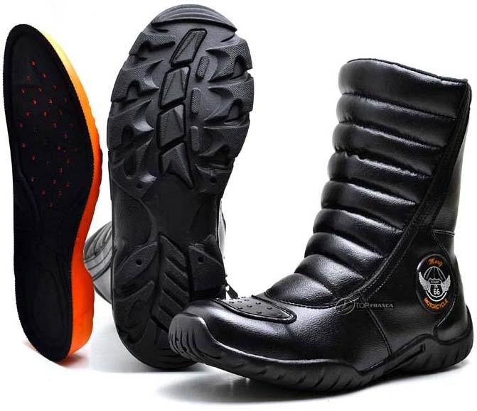 Bota Para Motociclista Motoqueiro Couro Proteção De Marcha - R  100 ... 67096319dd