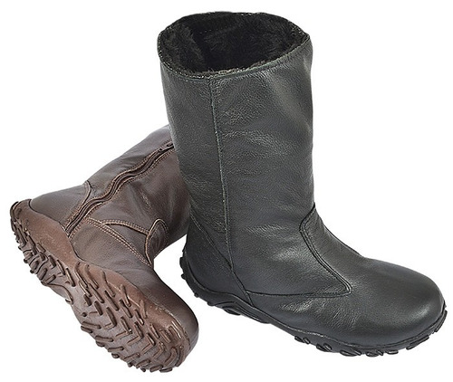 bota para neve e frio forrada com lã de carneiro legítima!