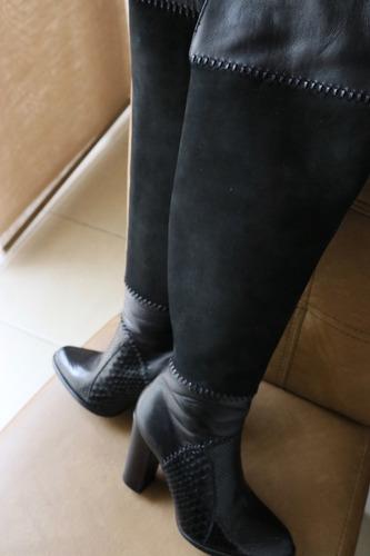 bota piel genuina piton y res/seminueva