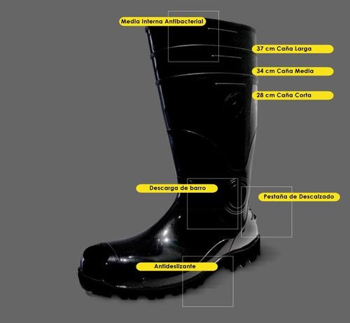 bota plastica goma pvc blanca con y sin puntera # 37 al 46