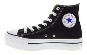 converse all star plataforma negras