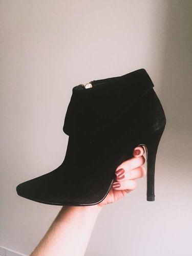 bota preta em camurça n34