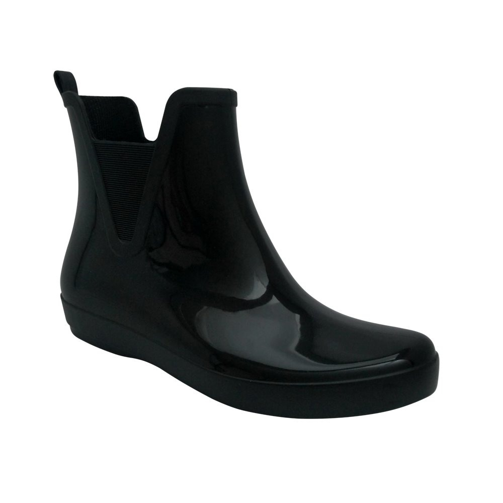 3836b696afd bota preta galocha feminina cano baixo curto. Carregando zoom.
