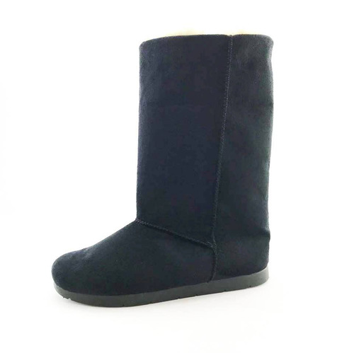 39986f7943 Bota Quality Shoes Forrada Em Lã Camurça Preta - R  129