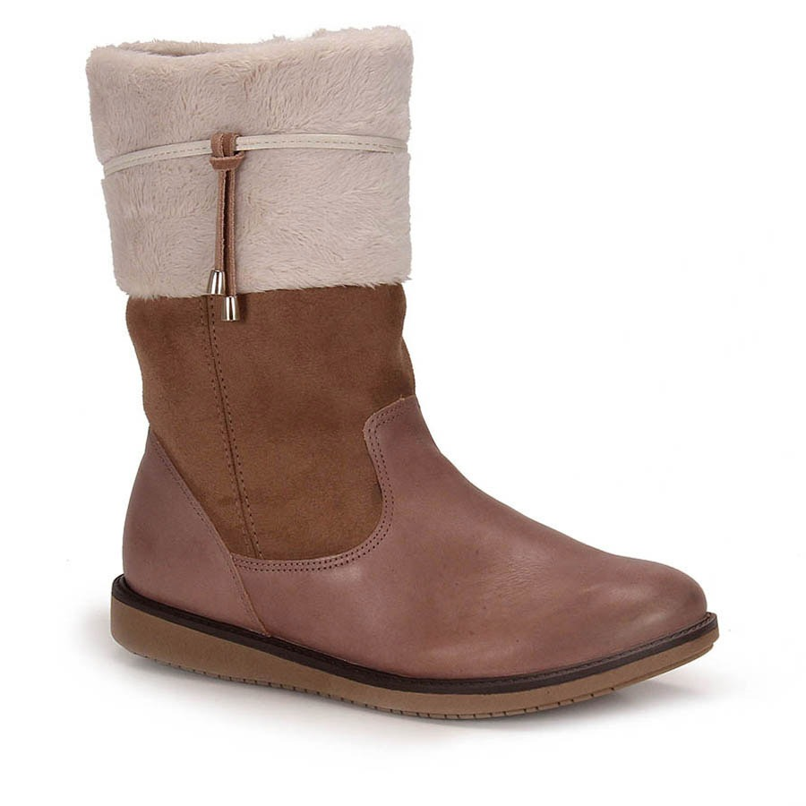 adff750252 bota rasteira conforto feminina comfortflex - taupe. Carregando zoom.