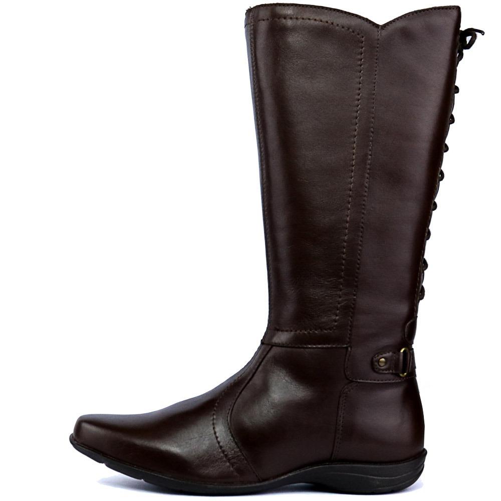f6232c395ea bota rasteira feminina em couro legítimo de qualidade. Carregando zoom.