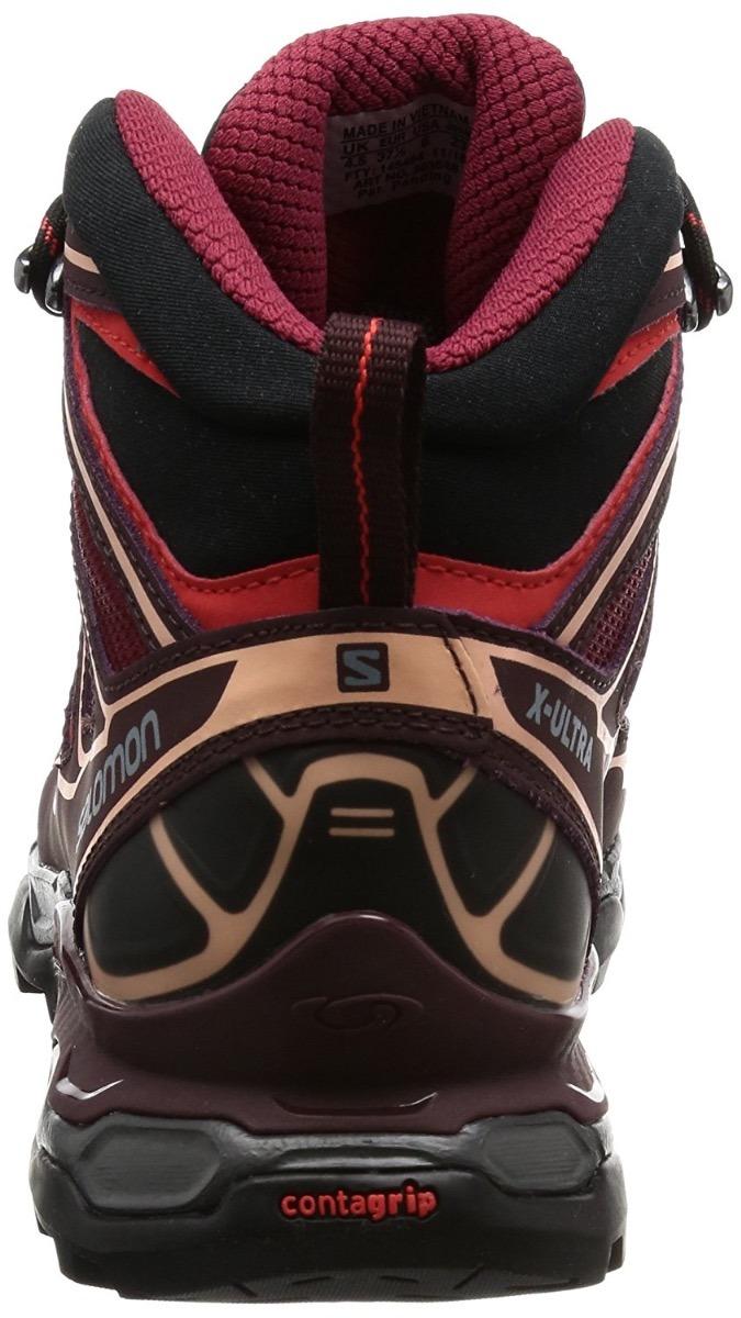 bota salomon x ultra mid 2 gore tex 4.5cm mujer impermeables