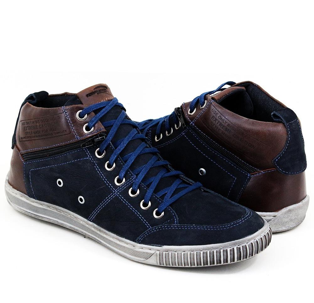 69ee13dfc2 bota sapatênis costurado cano alto masculina tchwm shoes5070. Carregando  zoom.