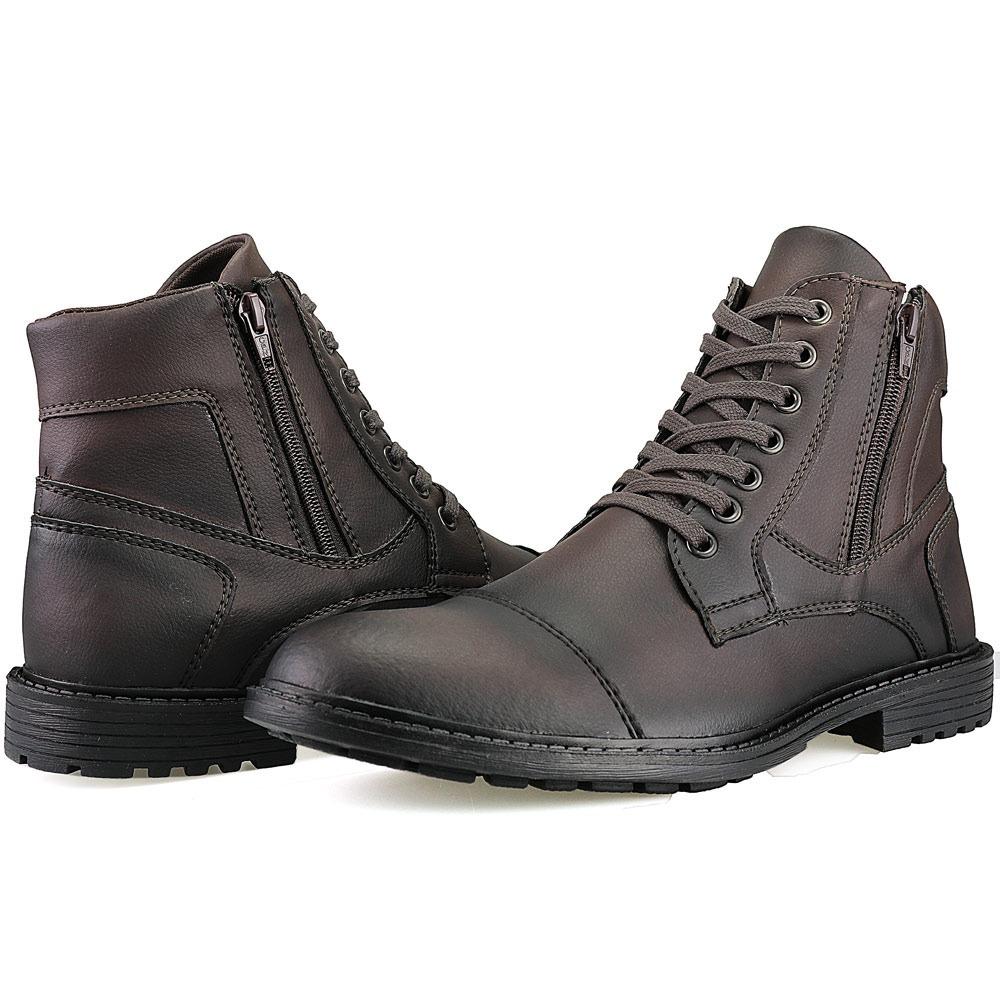 19772a38f0e bota masculina sapato coturno casual super leve c ziper. Carregando zoom... bota  sapato coturno. Carregando zoom.