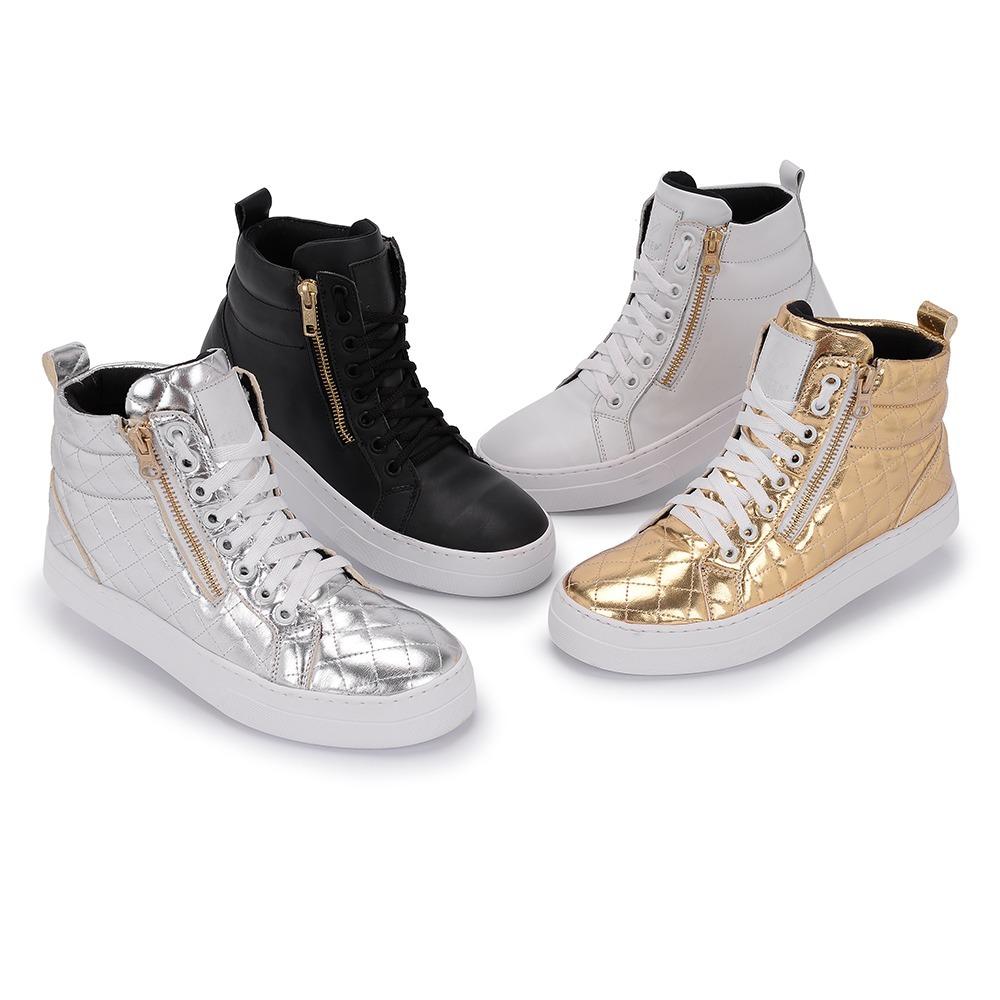 371aeb5155 bota skatista zíper feminina sneaker casual selten b2 prom. Carregando zoom.