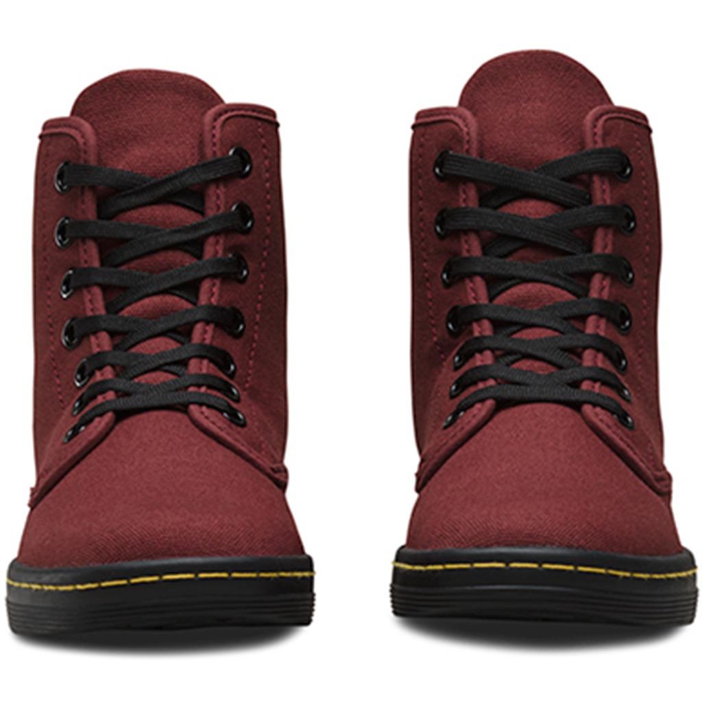 6dc7cb2e8f8b7 bota sneaker dama shoreditch cherry red canvas dr martens. Cargando zoom.
