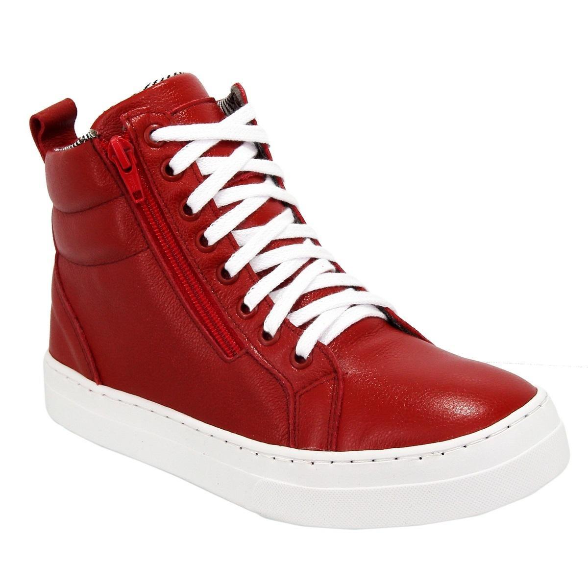 4daa3ae9ea bota sneaker feminina em couro treino fitness selten. Carregando zoom.