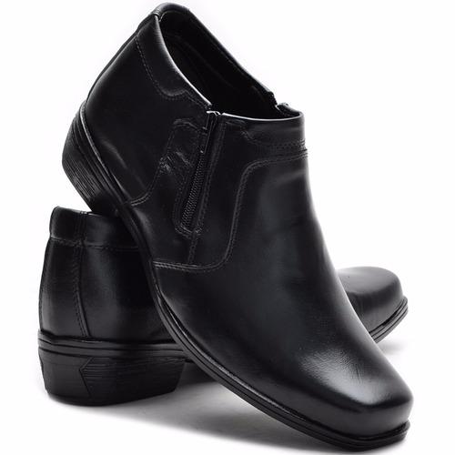 bota social masculina botina em couro